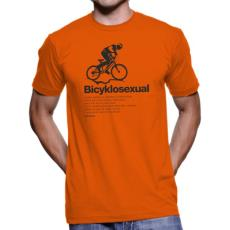 020 Tričko BA cyklo BYCYKLOSEXUAL orange