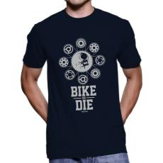 060 Tričko BA cyklo BIKE OR DIE navy