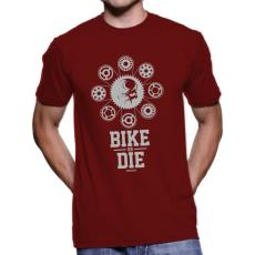 060 Tričko BA cyklo BIKE OR DIE bordo