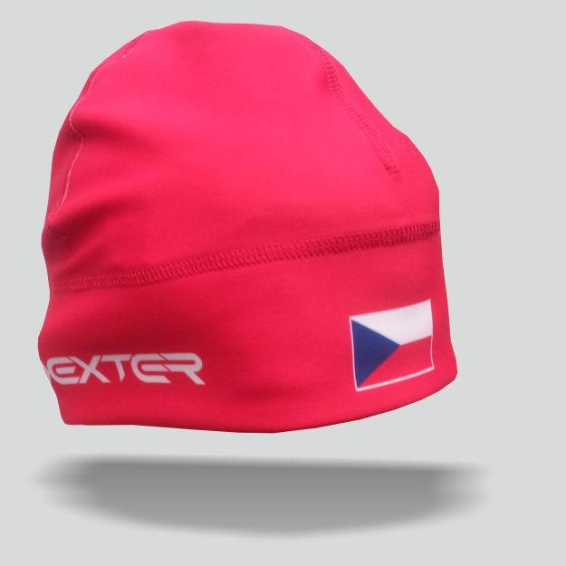 DEXTER - NK 079 Zimní čepice GAVA CZECH red junior