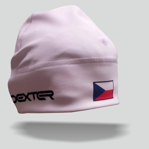 DEXTER - NK 079 Zimní čepice GAVA CZECH white junior