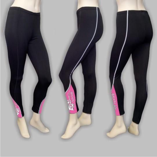 DEXTER - Kalhoty FLOWERS dlouhé bez vložky pink