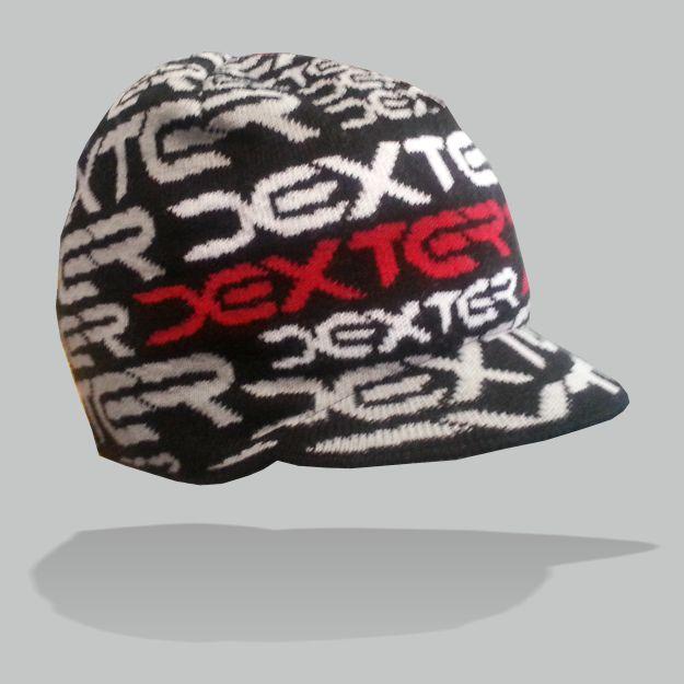 DEXTER - Pletený kulich DEXTER s kšiltem black